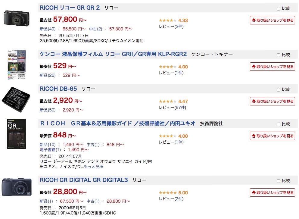 e-commerceデータ表示の例