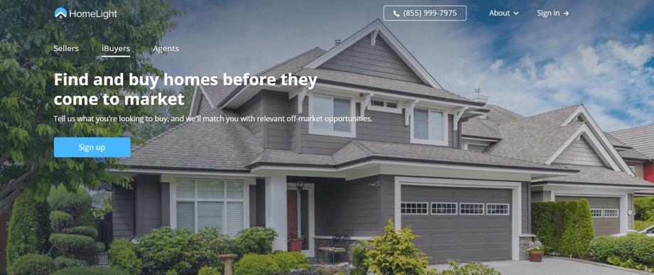 HomeLightのWEBサイト