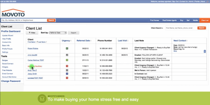 Movoto がエージェントへ提供する業務支援アプリ