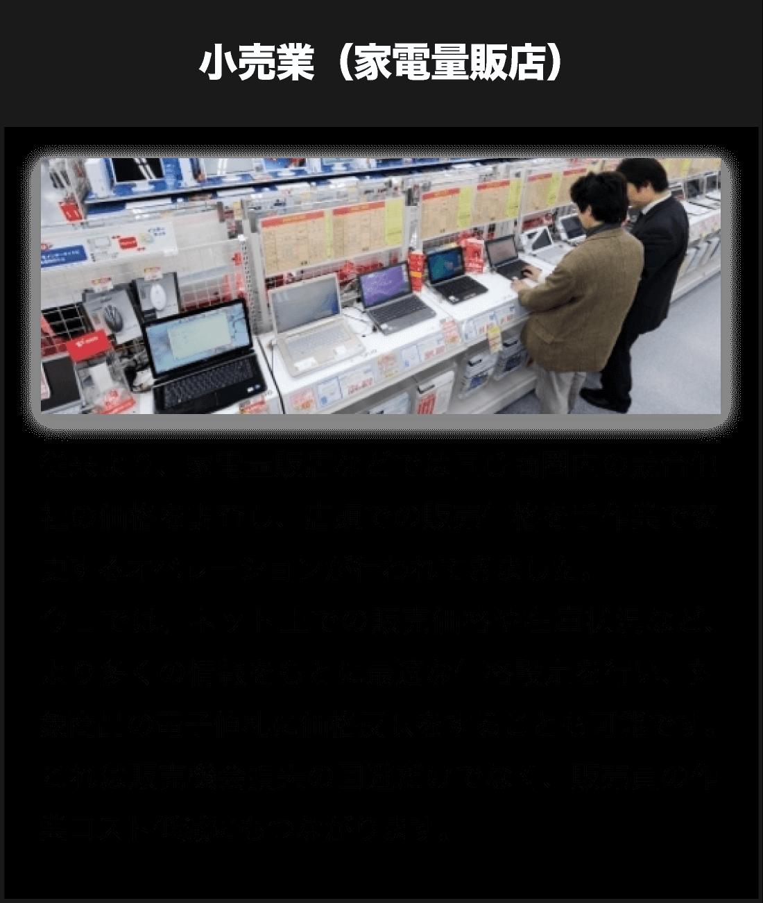 小売業・家電量販店